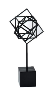 "$35 NESTED CUBE SCULPTURE (LG)  9""W x 8""D x 20.5""H"