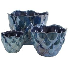 SET OF 3 BLUE VASES  $40/SET