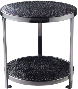 "BLACK CROC TABLE  $175  W 20"" / D 20"" / H 21"" / 12 lb."