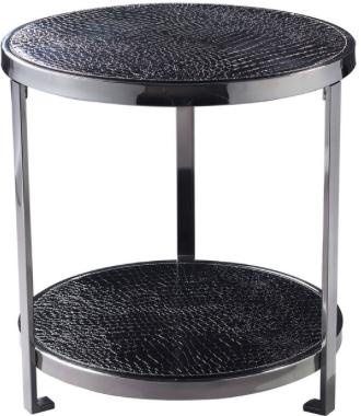 """BLACK CROC TABLE  $175  W 20"""" / D 20"""" / H 21"""" / 12 lb."""