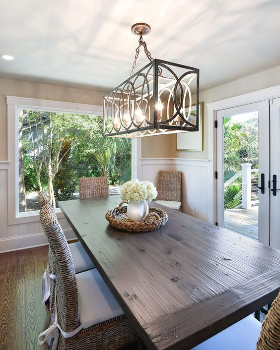 Dining Table Chandelier Selecting, How High Should A Chandelier Be Over Dining Table