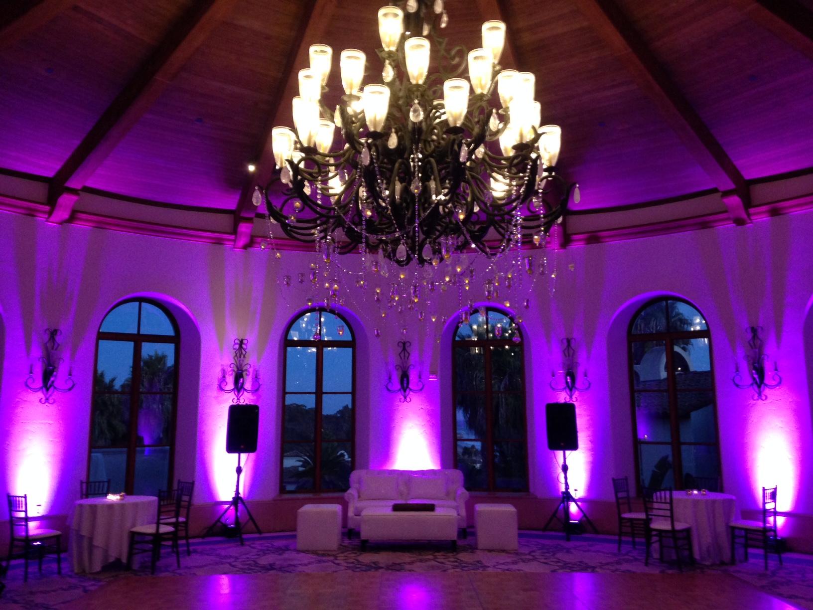 Santa Barbara Wedding DJs Event Lighting : Full lighting design house, lighting design, professional lighting