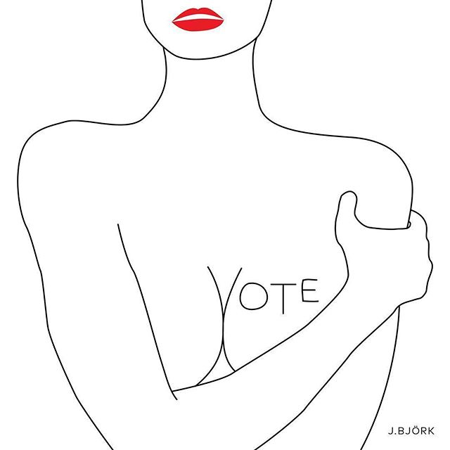 A reminder that FortyTwo Women will be on holiday tomorrow so our employees, artists, friends, and family can get to the polls to vote. #vote #electionday #fortytwowomen #womensupportingwomen #companyholiday #bethechange #empoweringwomen  #Repost @jbjork ・・・ VOTE. It matters more than ever. Today is the last day to register in California. ✌🏼✅✊🏼 Original artwork (series of 3) created in 2008, more relevant now than ever.  Please credit @jbjork if you repost. 🙏🏼 .  #jbjork #jbjorkdesignstudio #vote #getoutthevote #illustration #design #empoweringwomen