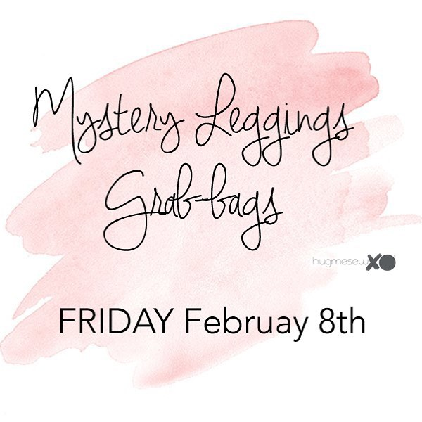 Hey Friends! On Friday February 8th, I will launch our Mystery Grab Bag for leggings for the first time! It will contain three pairs of leggings for a total value of at least $90! You choose size and gender - print will be a mystery! You don't know what you'll get, but you know you will love it! Please share this with your friends!! 😘 Coming on Friday at 10:00 AM CST!! #grabbag