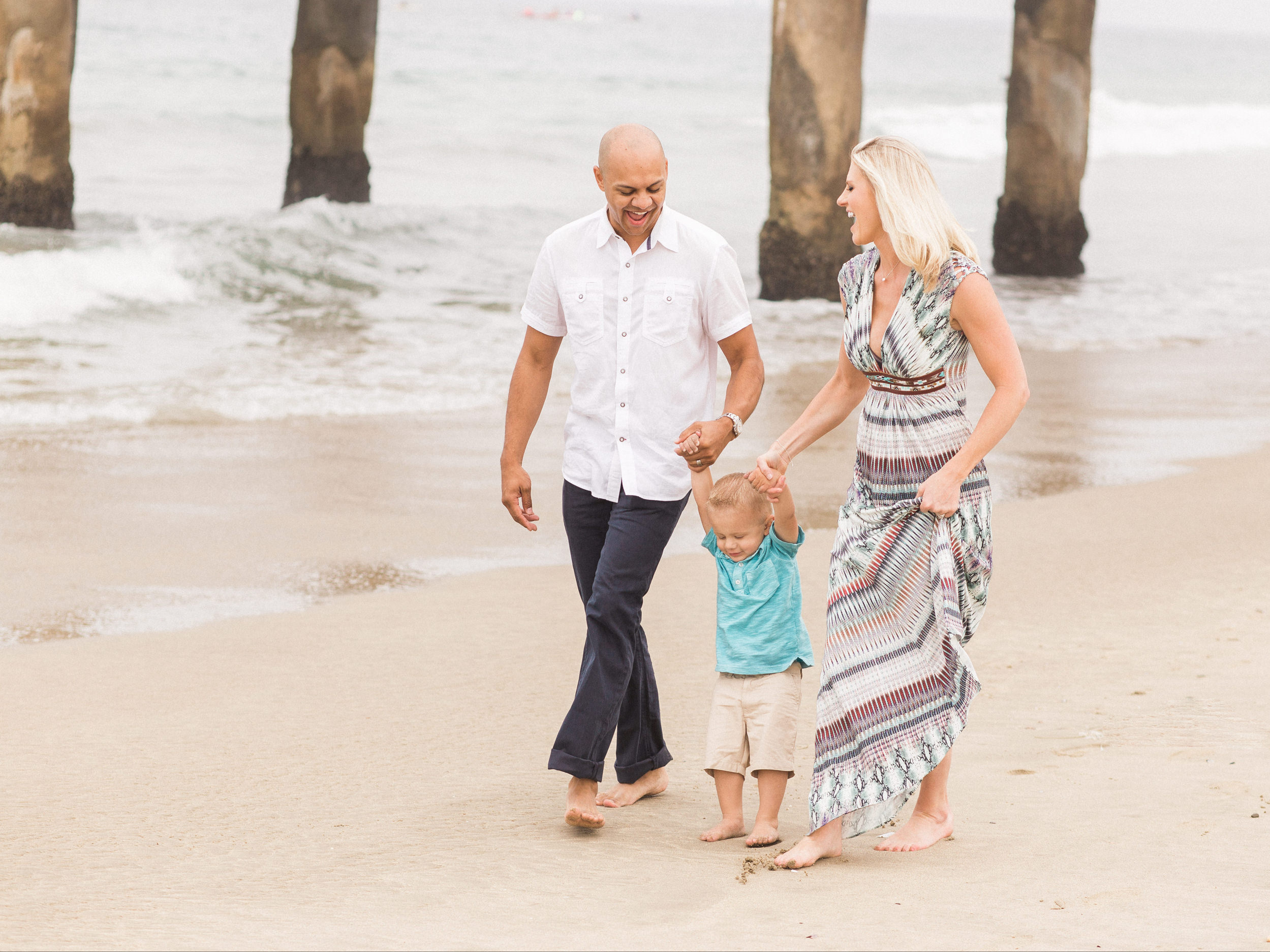 Manhattan Beach Krishnan Family Portrait Photography Session from South Bay family and wedding portrait photography business Daniel Doty Photography.