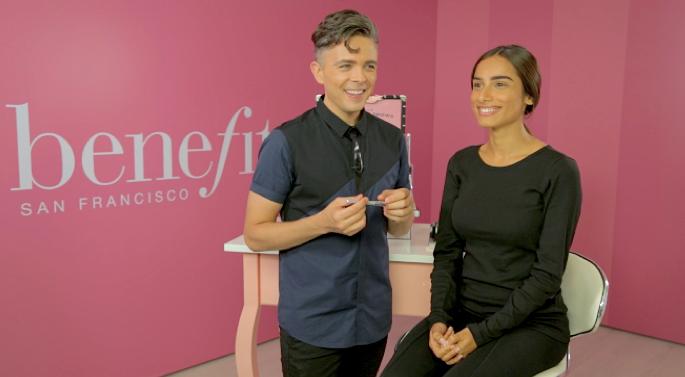 Benefit Cosmetics global brow ambassador, Jared Bailey.