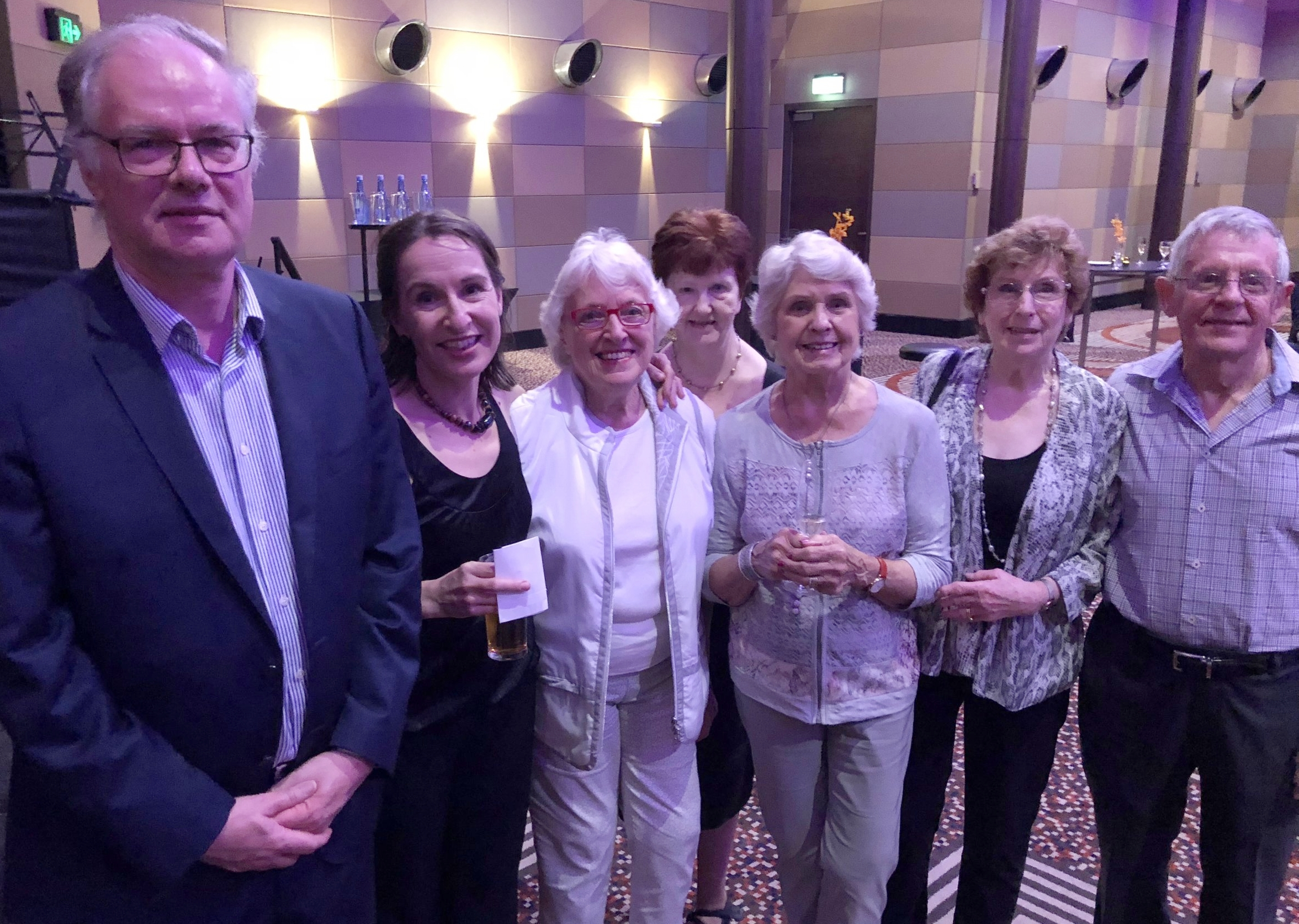 Andrew Dixon (commissioning a new work), Zoe, Sheila (subscriber since 2002), Vicki, Dorothy, Judy and Barry Hocking (subscribers since 2002).jpg