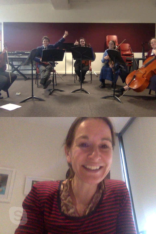 Zoe's Skype session with the JNQP Hamilton ensemble