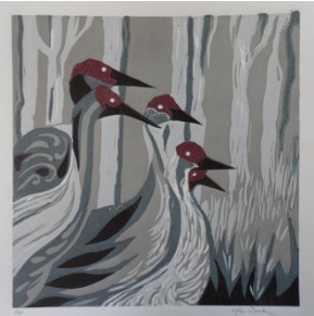"""SANHILL CRANES""   by Kate Wood, Fairbanks AK"