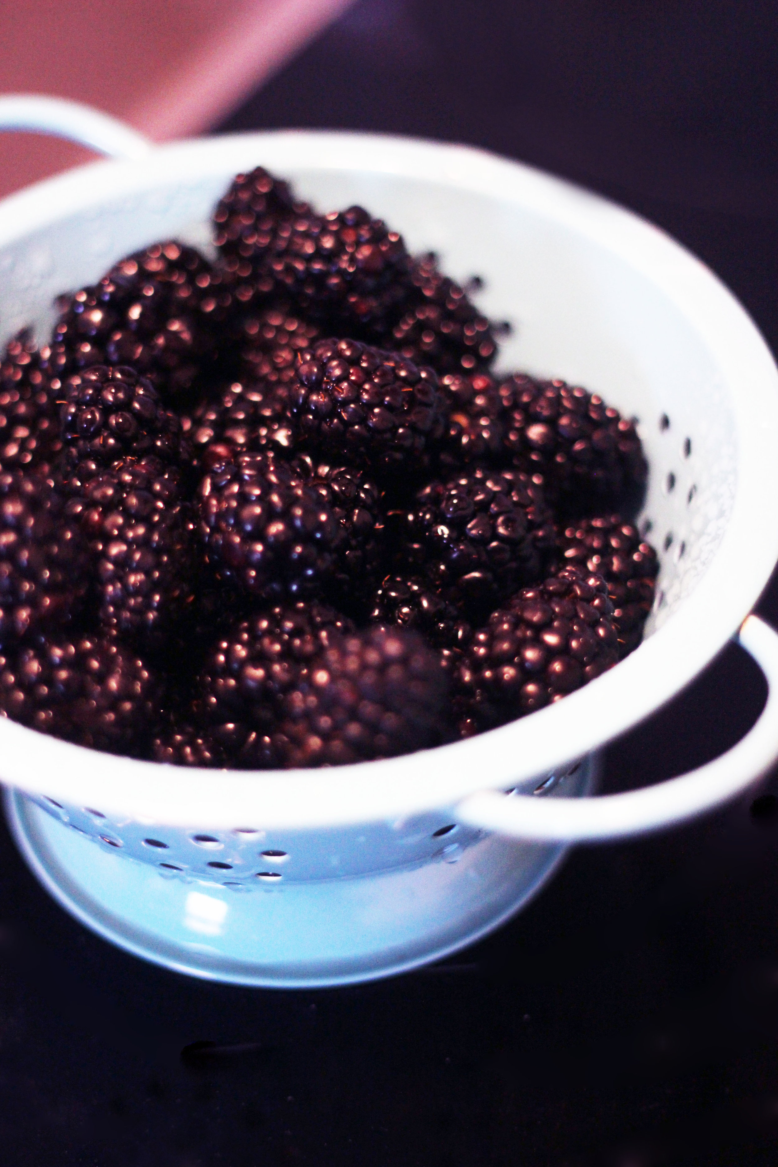 blackberries for pie