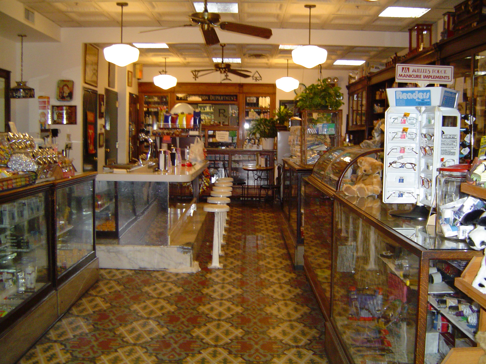 Interior view of Hutchinson Drug Store at the Short & Broadway location (circa 2007).