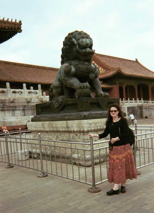 Taking time off from acupuncture training to tour the Forbidden City, Beijing, China (2001).