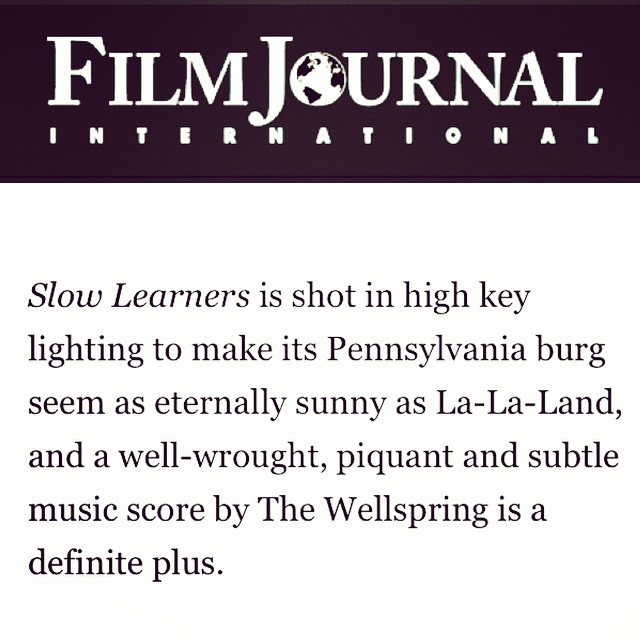 Check out this nice shout we got out in @film_journal 's review of #SlowLearners The movie is officially released today thanks to @IFCfilms !! #GoWatchIt  #LaughYourAssOff #NoticeTheMusic #composers #filmscore