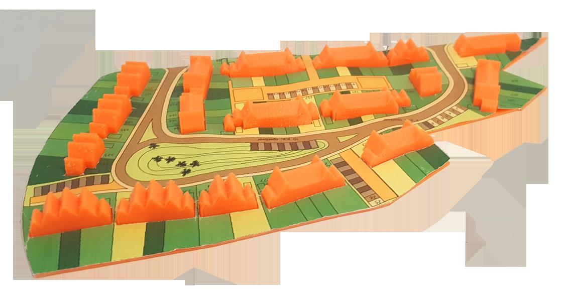 voorbeeld 3d print / stedenbouwkundige studie