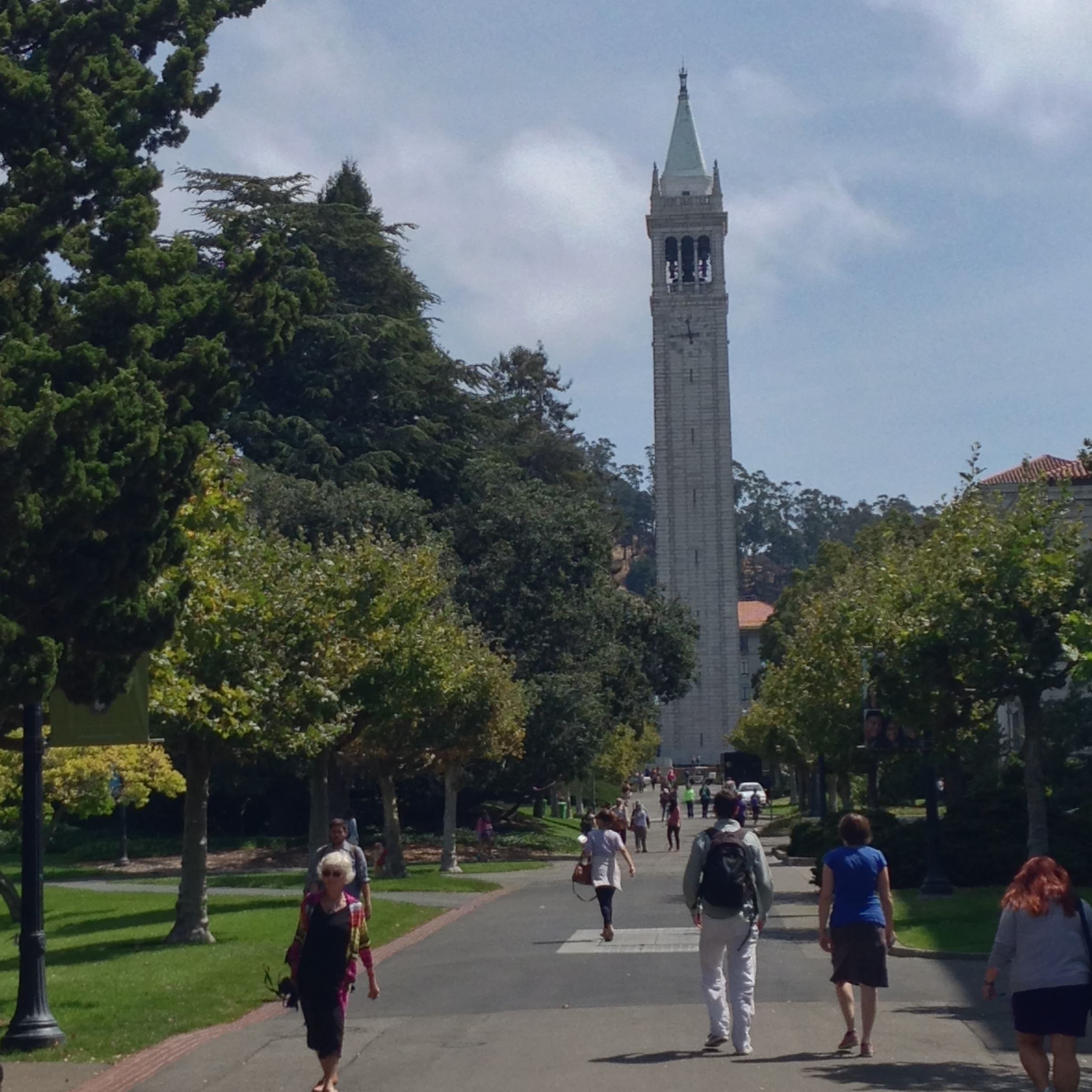 The Campanile clock tower on the UC Berkeley campus.