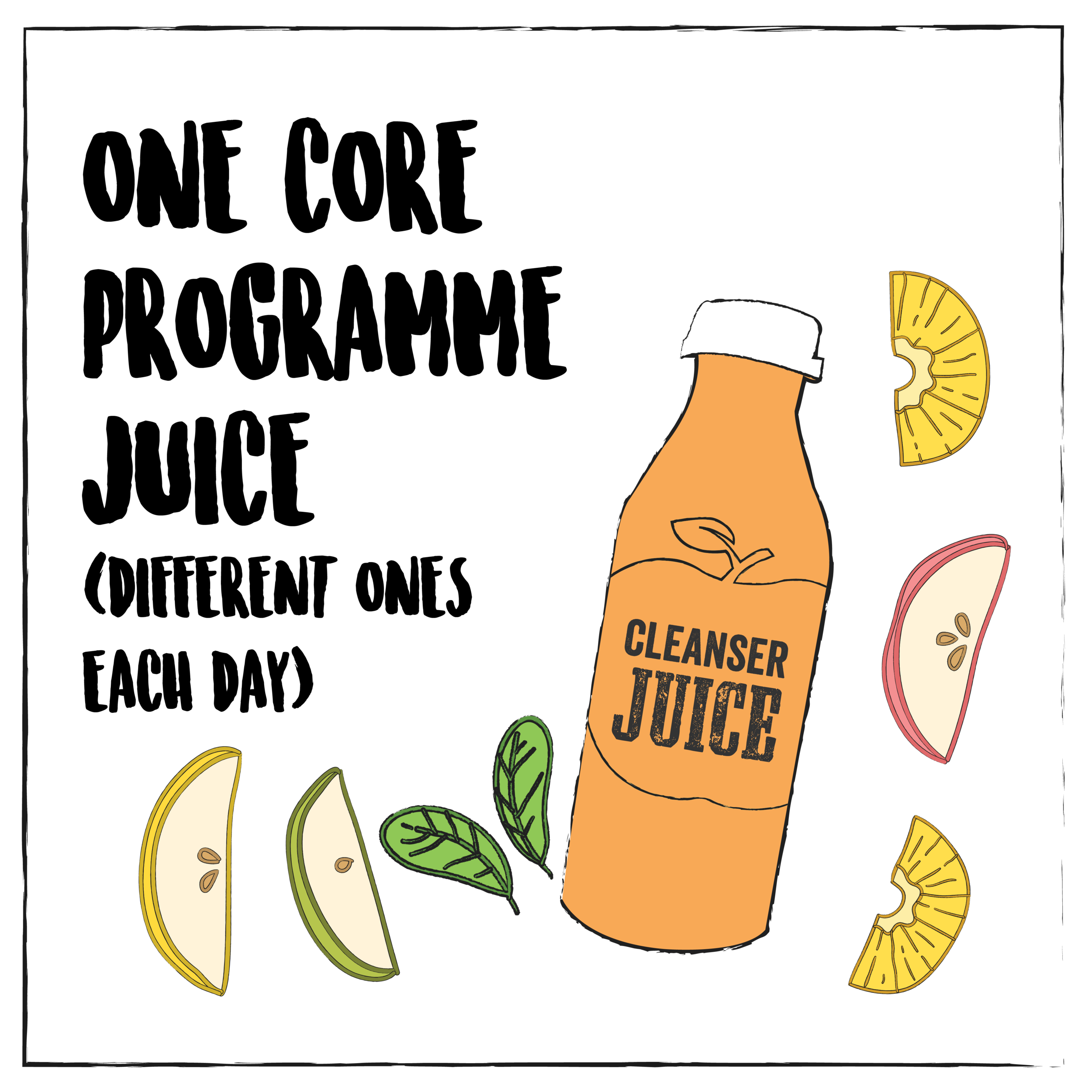 Or if you're collecting daily you can swap this juice for a breakfast bowl (at no extra cost)