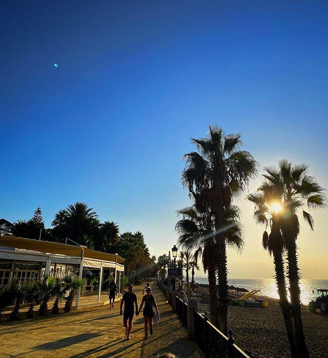 Sunrise on the Marbella Boardwalk @juicehideaway  #marbella #marbellalife #spain #marbellalifestyle #malaga #marbs #puertobanus #andalucia #costadelsol #marbella2019 #retreat