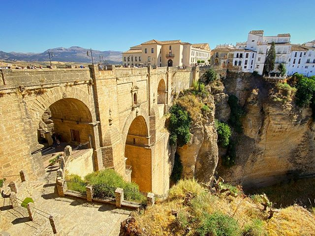Visiting the beautiful town of #ronda today. Home of the very first bullring and the whole town is sat on top of a giant gorge.