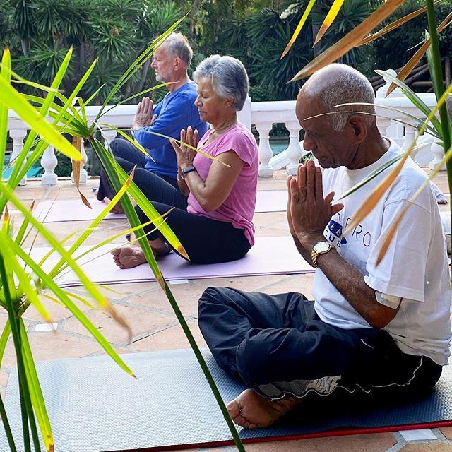 Morning gratitude at yoga