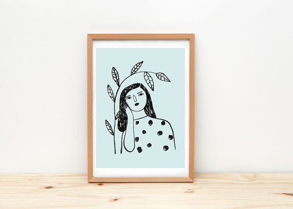Woman and branch - depeapa