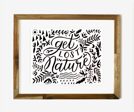 get lost in nature - worth while paper