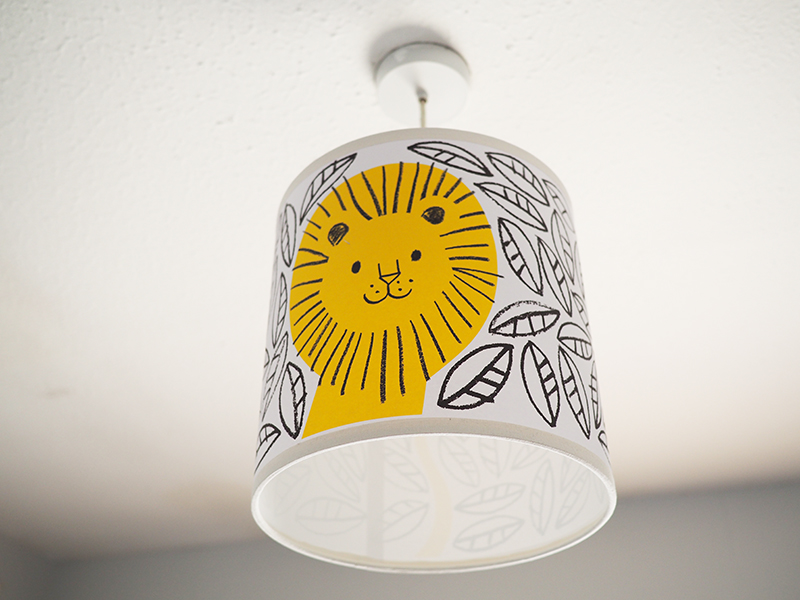 This lamp shade makes me so happy - it catches my eye every time I pass by the room. It is from  Lisa Jones Studio .