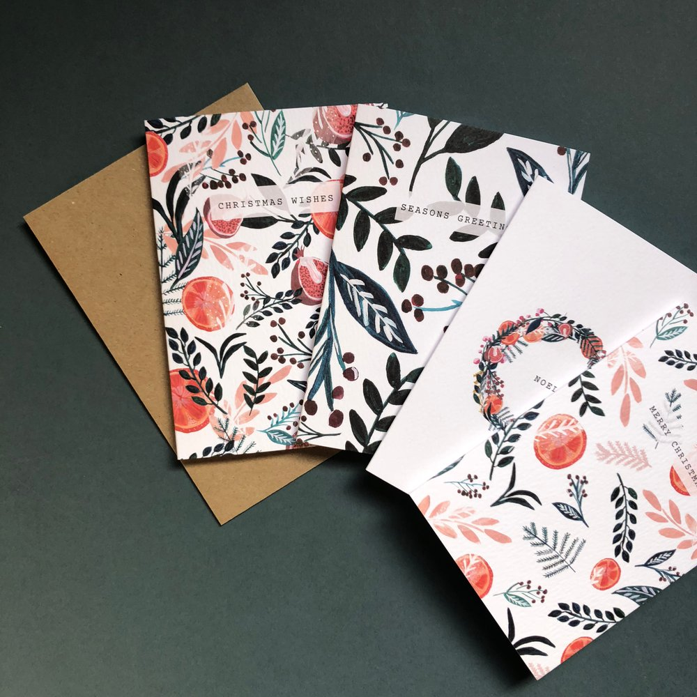 Chloe Hall - Patterned Christmas cards