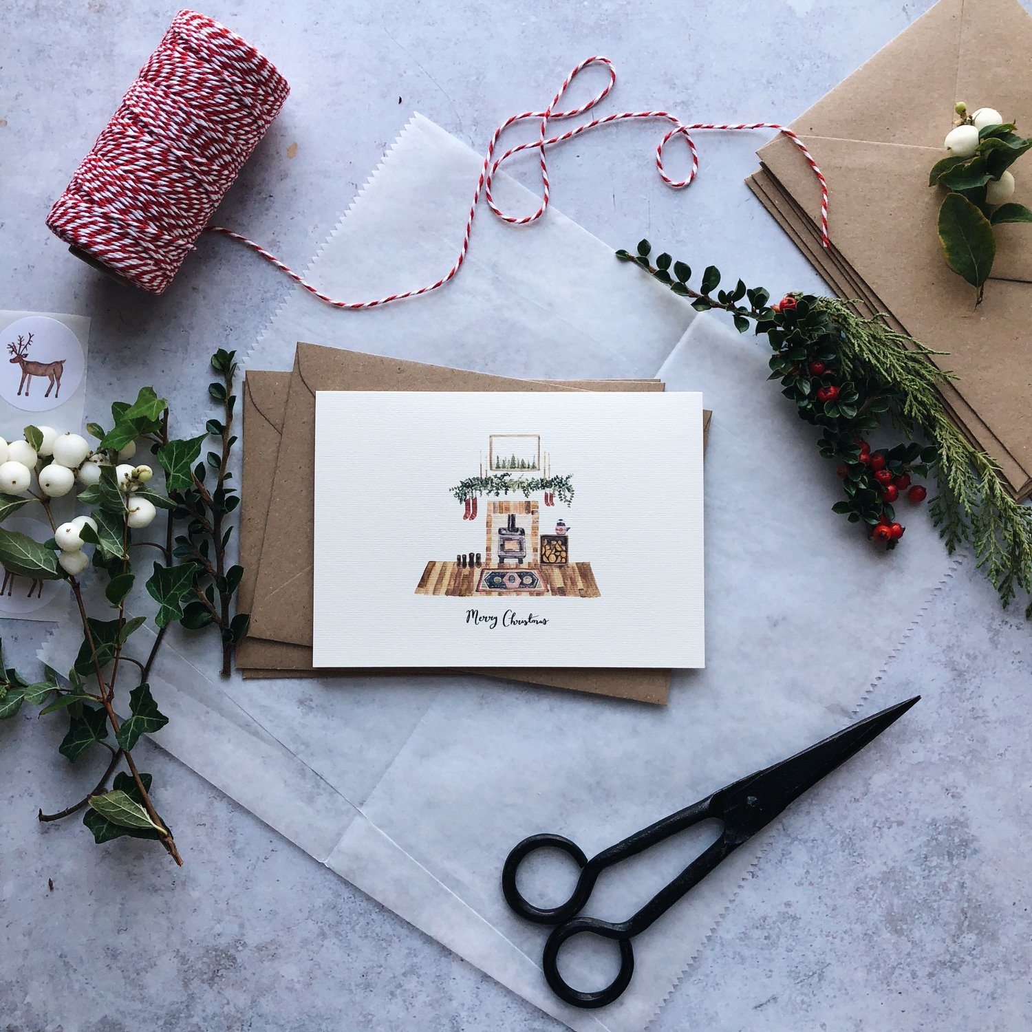 Wildflower Illustration Co - Cosy Pack - Christmas Cards