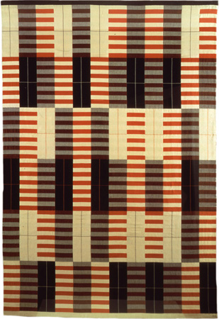 Black, White, Red, 1926/64; Cotton + Silk