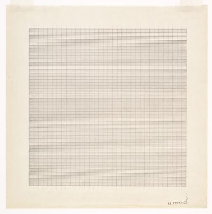 Agnes Martin, Wood, 1964, Ink on Paper  © 2015 Estate of Agnes Martin / Artists Rights Society (ARS), New York