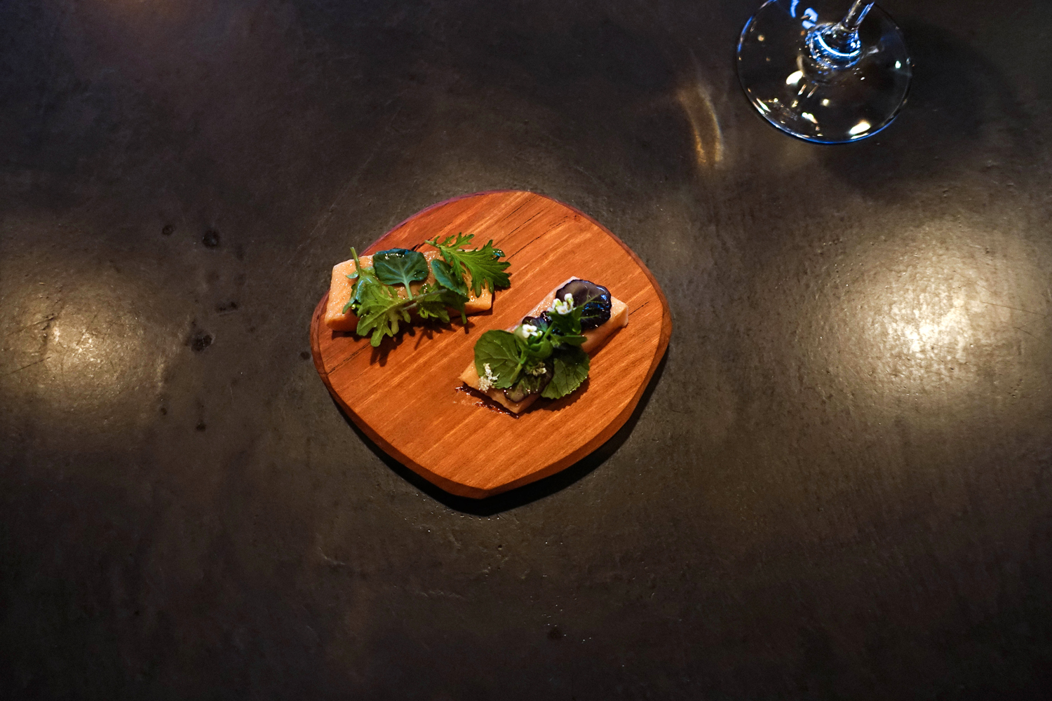 Smoked Trout with brown butter, liver