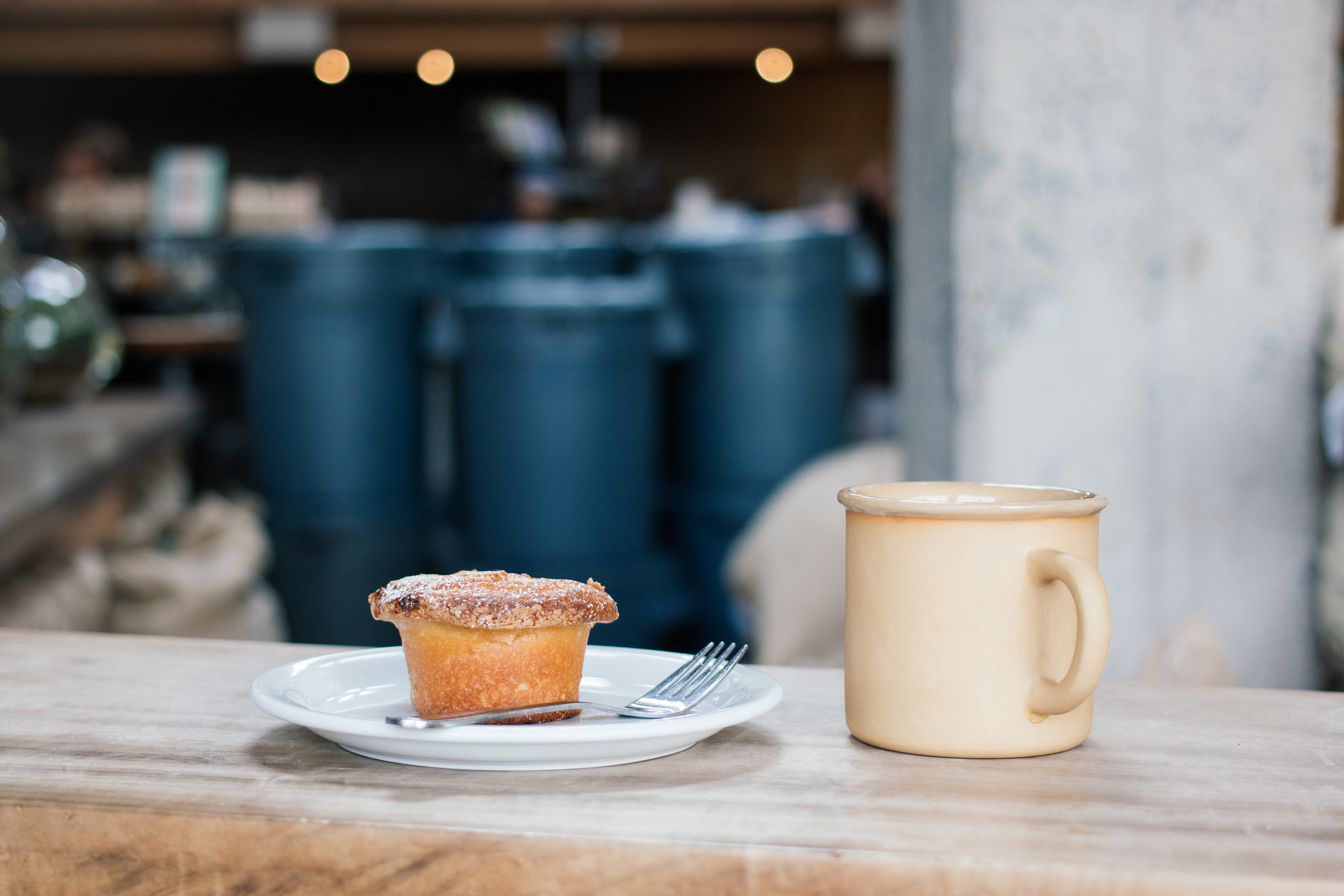 Apple Cinnamon Muffin and Drip Coffee at  Sightglass Coffee