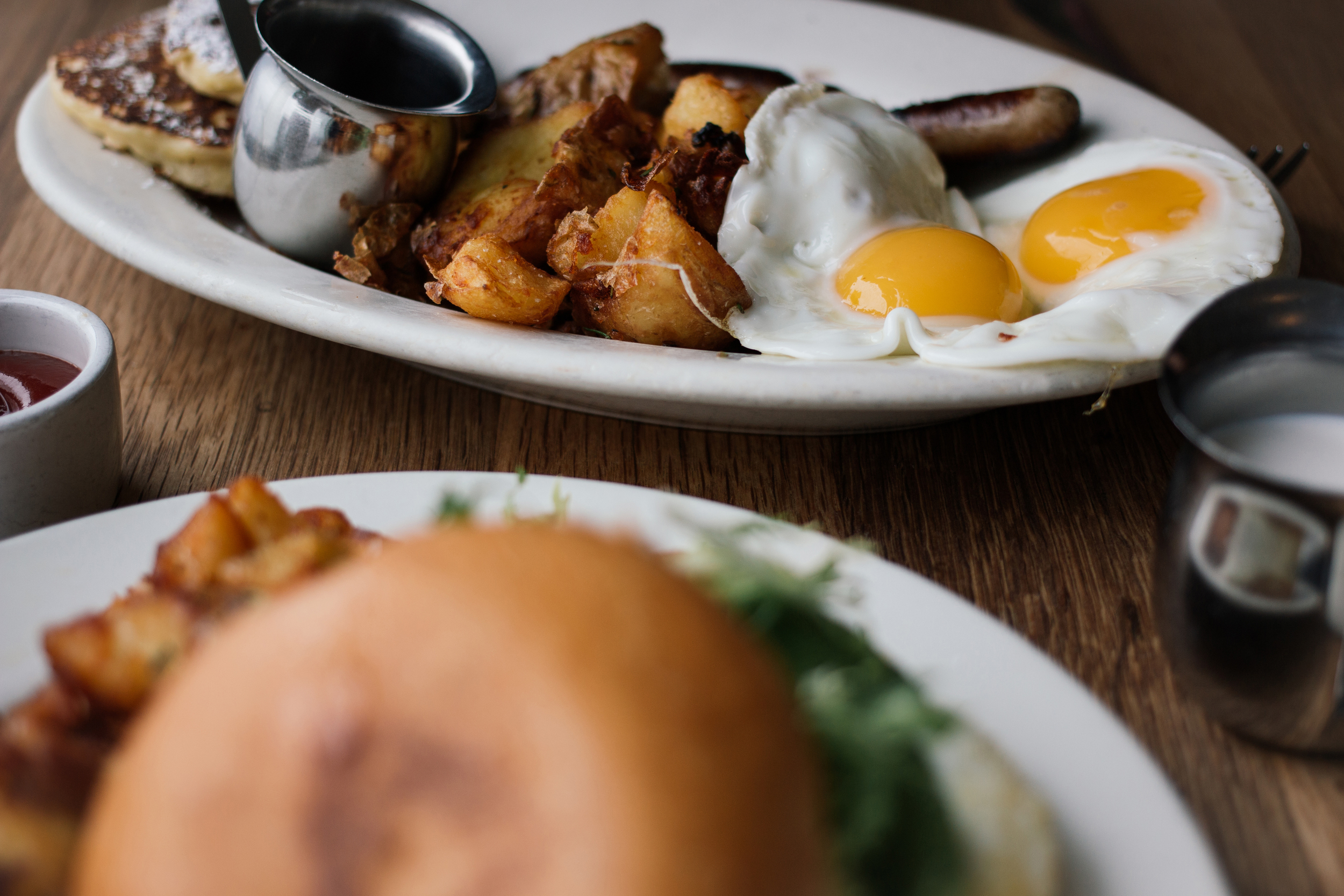 Simple, but solid breakfast at  Plow