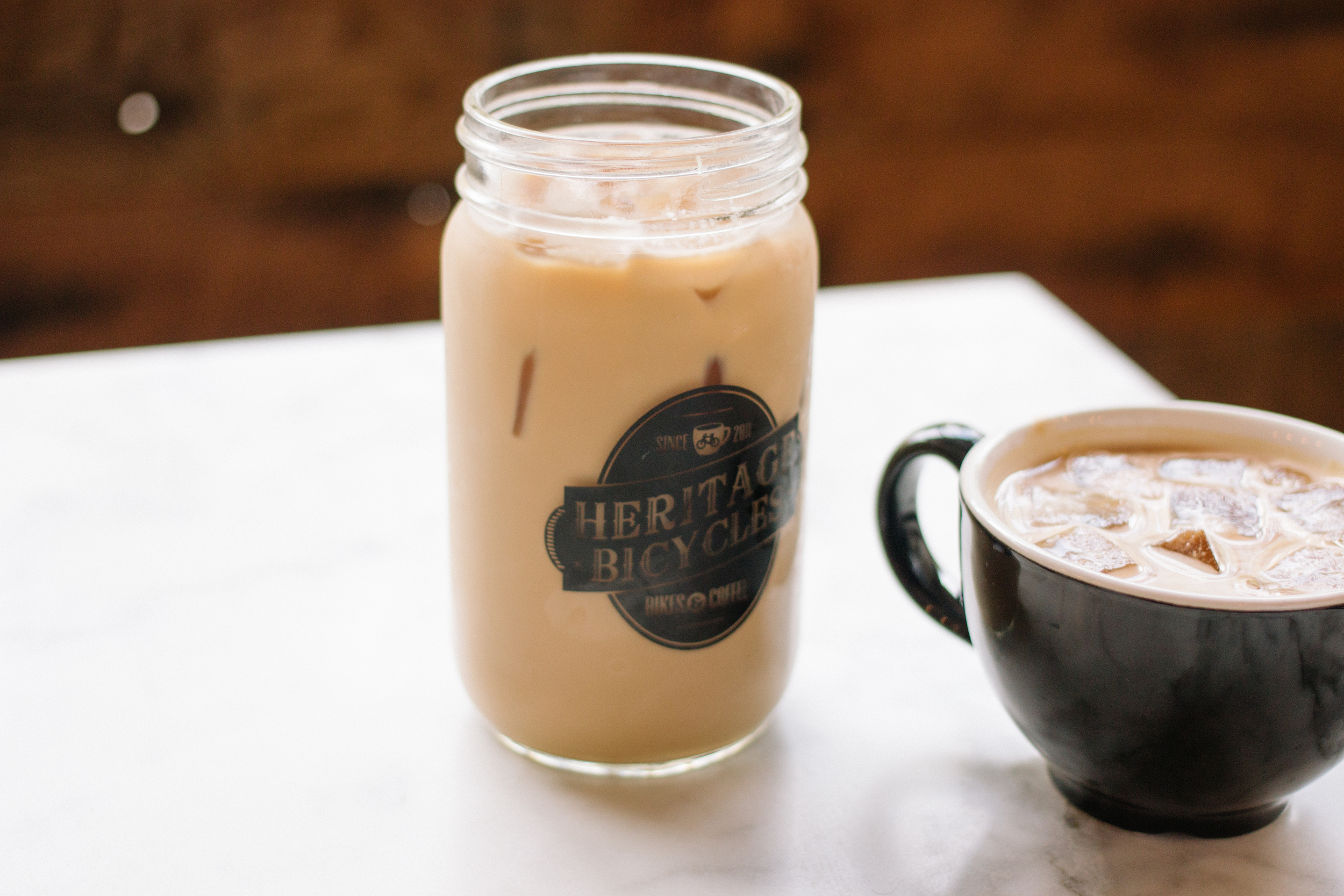Lavender Iced Latte and Cortado at  Heritage Outpost