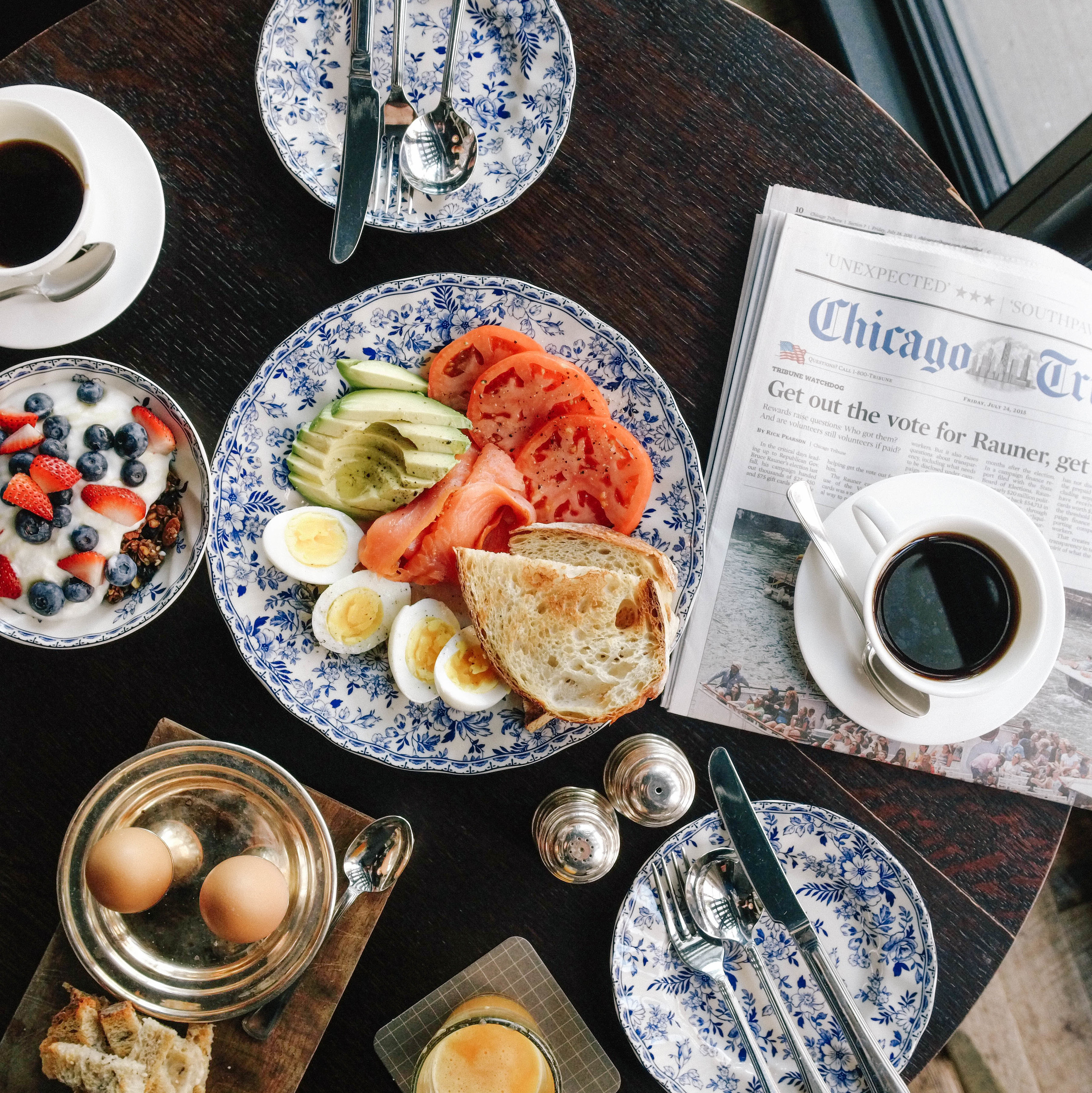 First things first, breakfast at  The Allis  at  Soho House Chicago