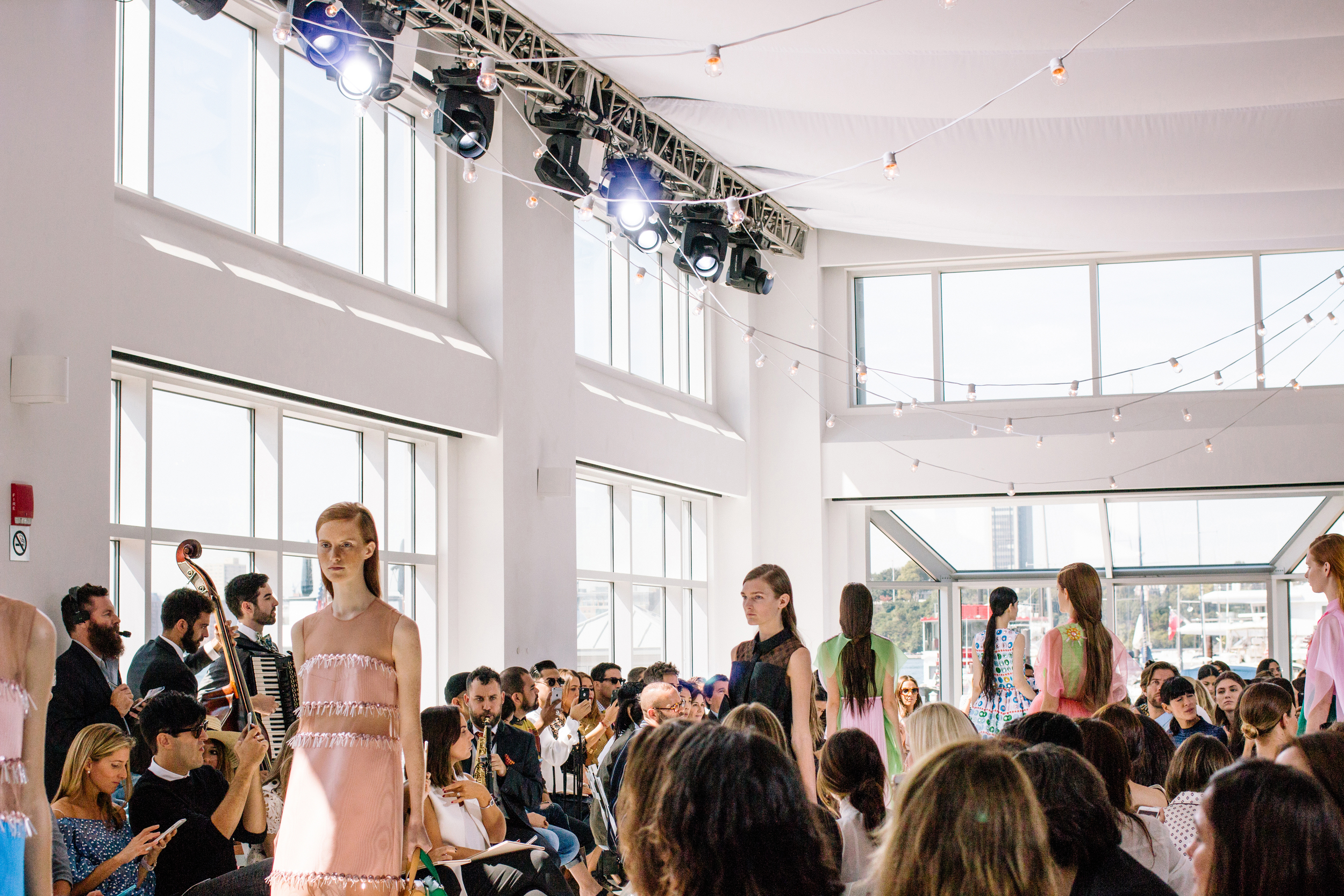 Delpozo  SS16 at Chelsea Piers (Thank you  Essie )