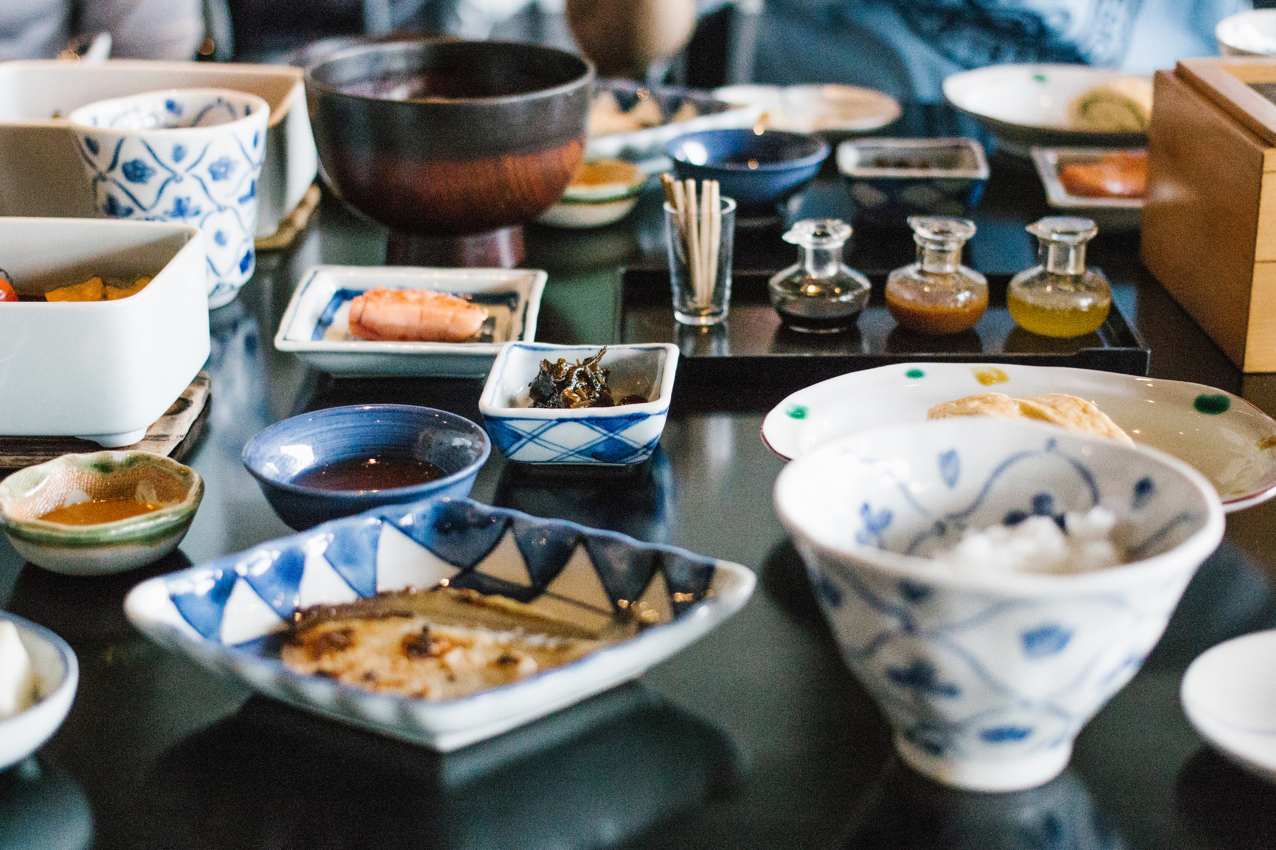 Japanese style breakfast in the Dining Room
