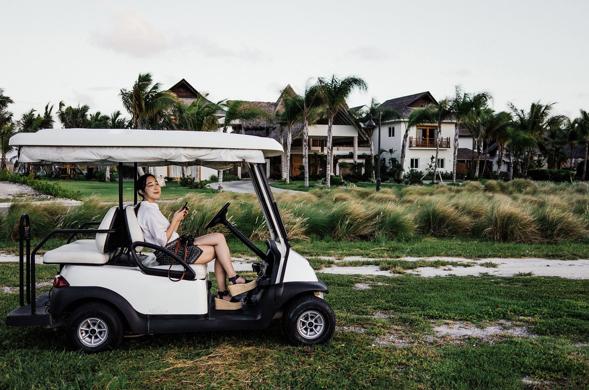 Explorations outside the resort with personal golf carts provided for every room