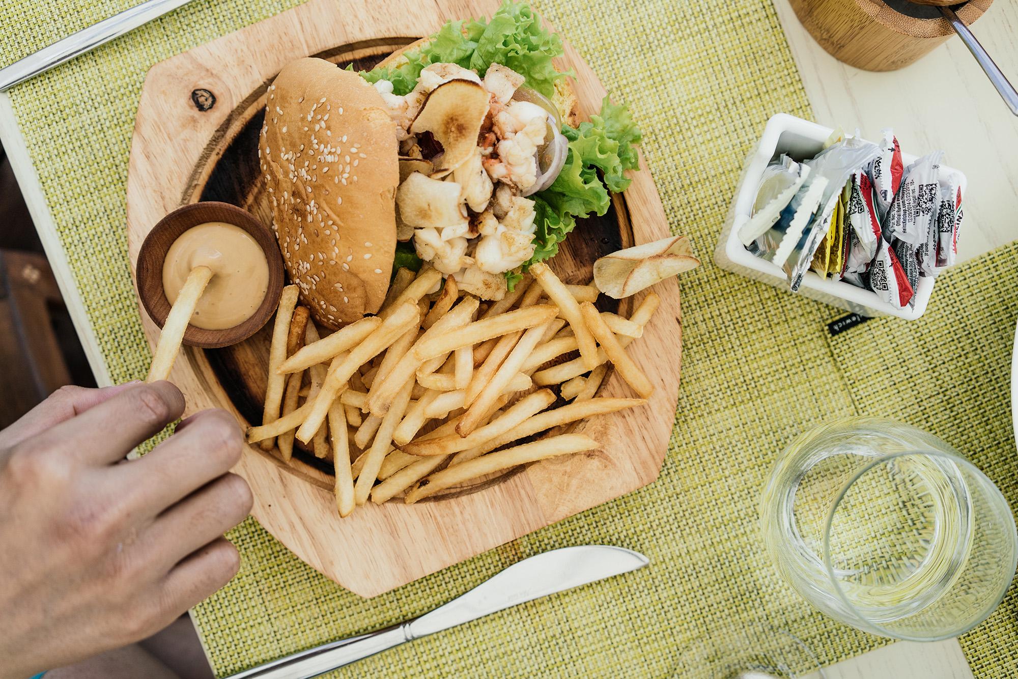 Lobster Burger at  La Palapa by Eden Roc