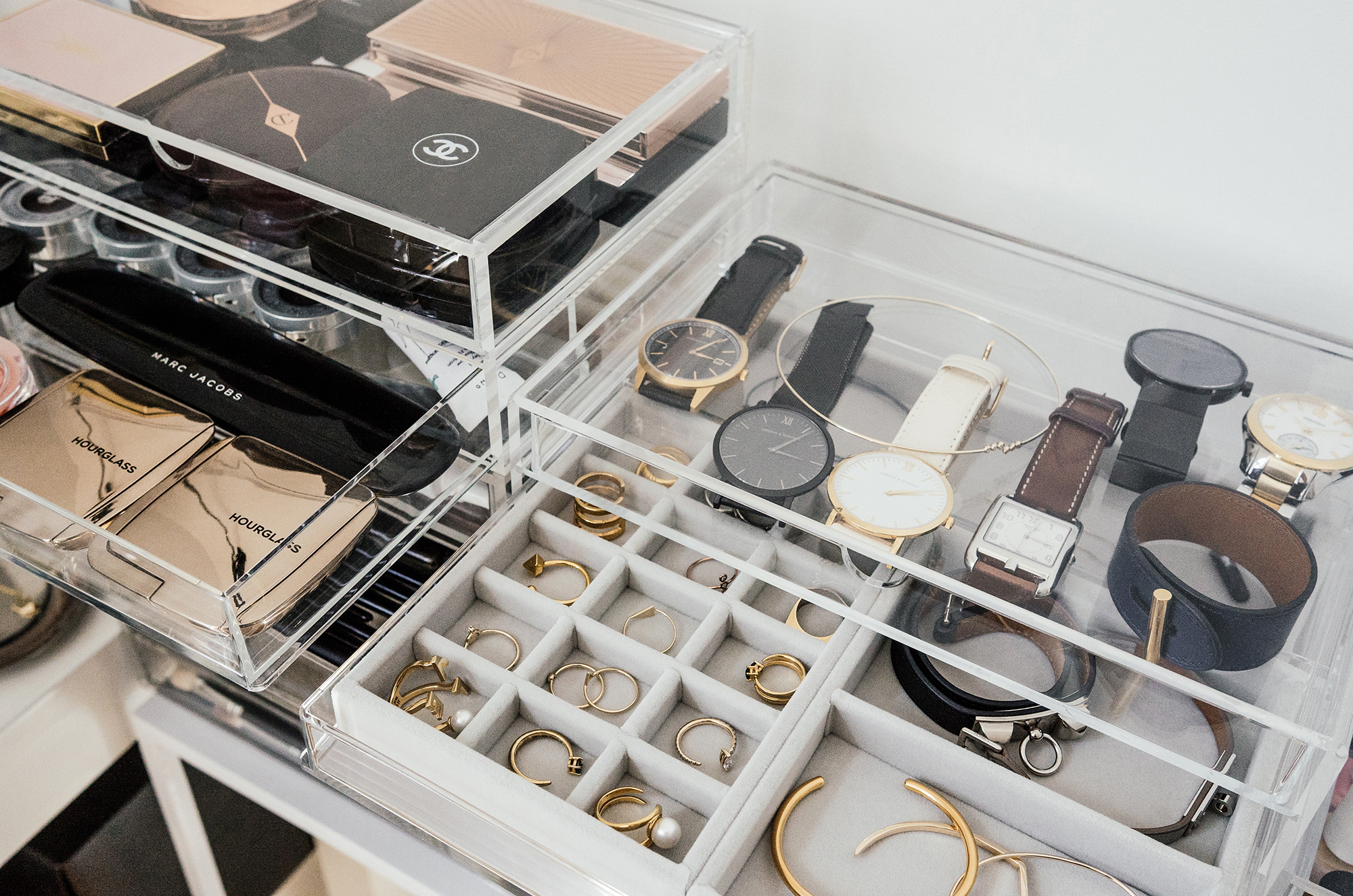 Larsson & Jennings Watches ,  Hermes Watch  and Bracelets,  Movado Watches ,  Kat Kim New York Rings and Bracelet ,  Jennie Kwon Bracelet ,  AVEC New York Rings ,  Euna Joyce Rings