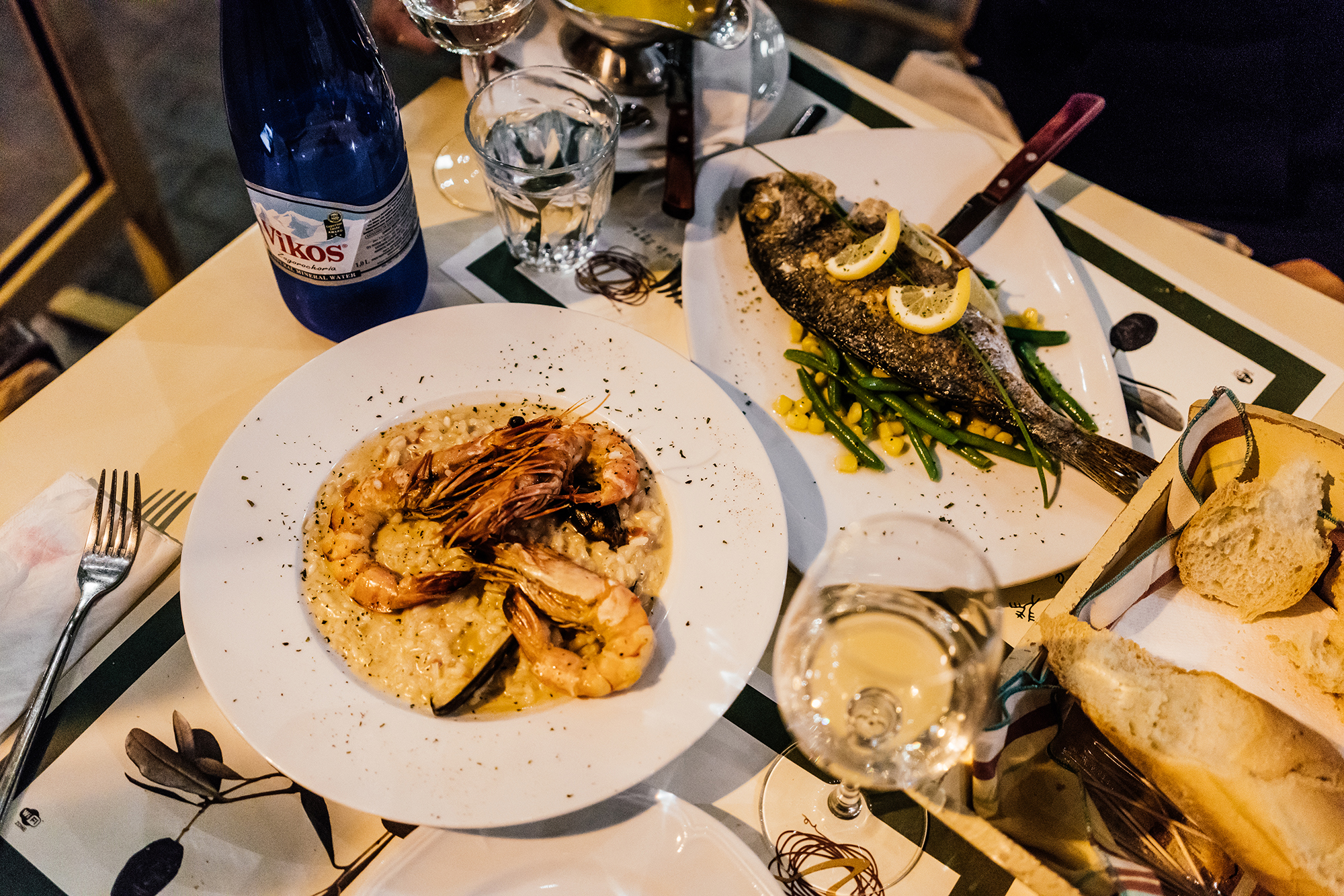 Seafood Risotto and Fish of the day