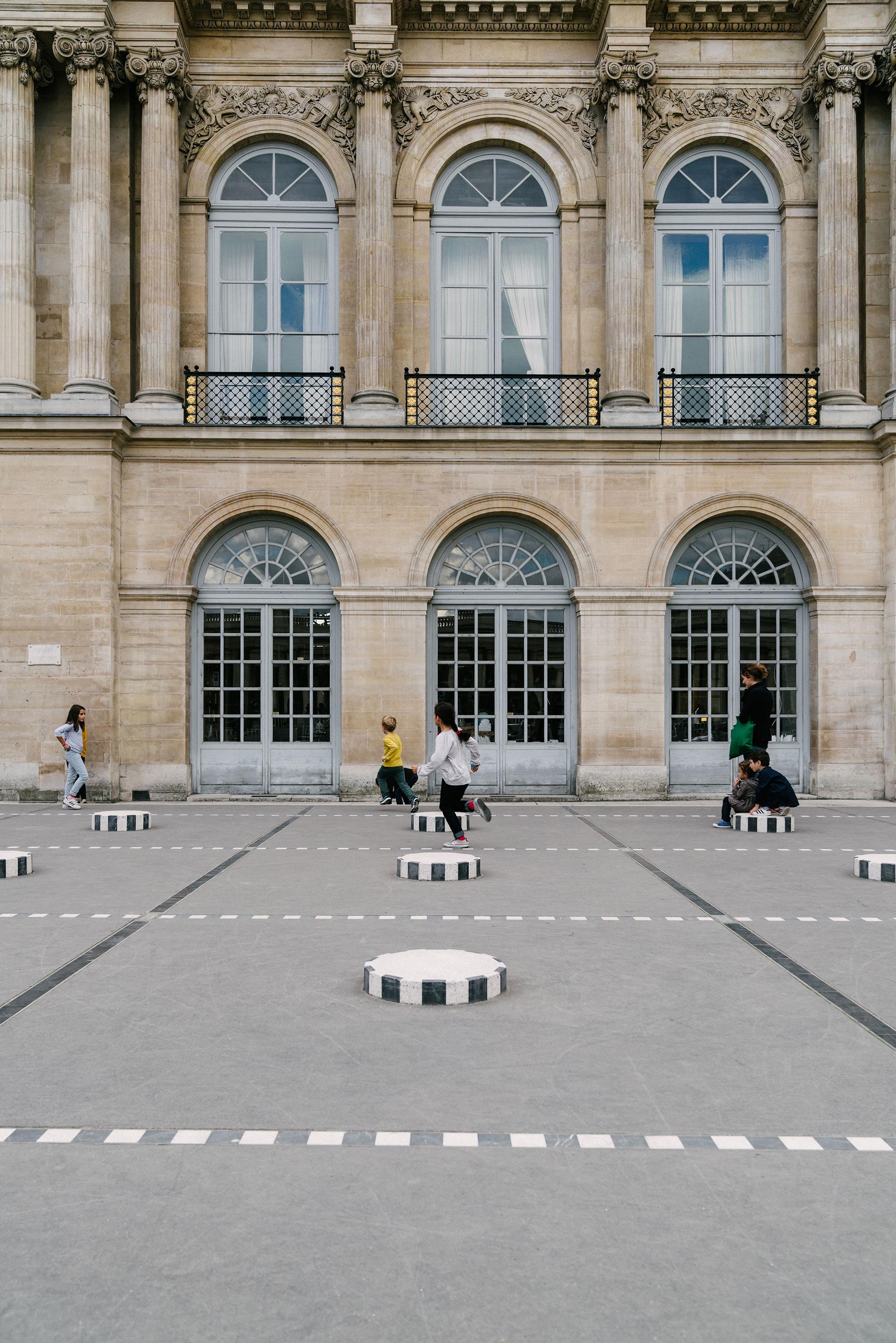 Daniel Buren's Les Deux Plateaux at Palais Royal