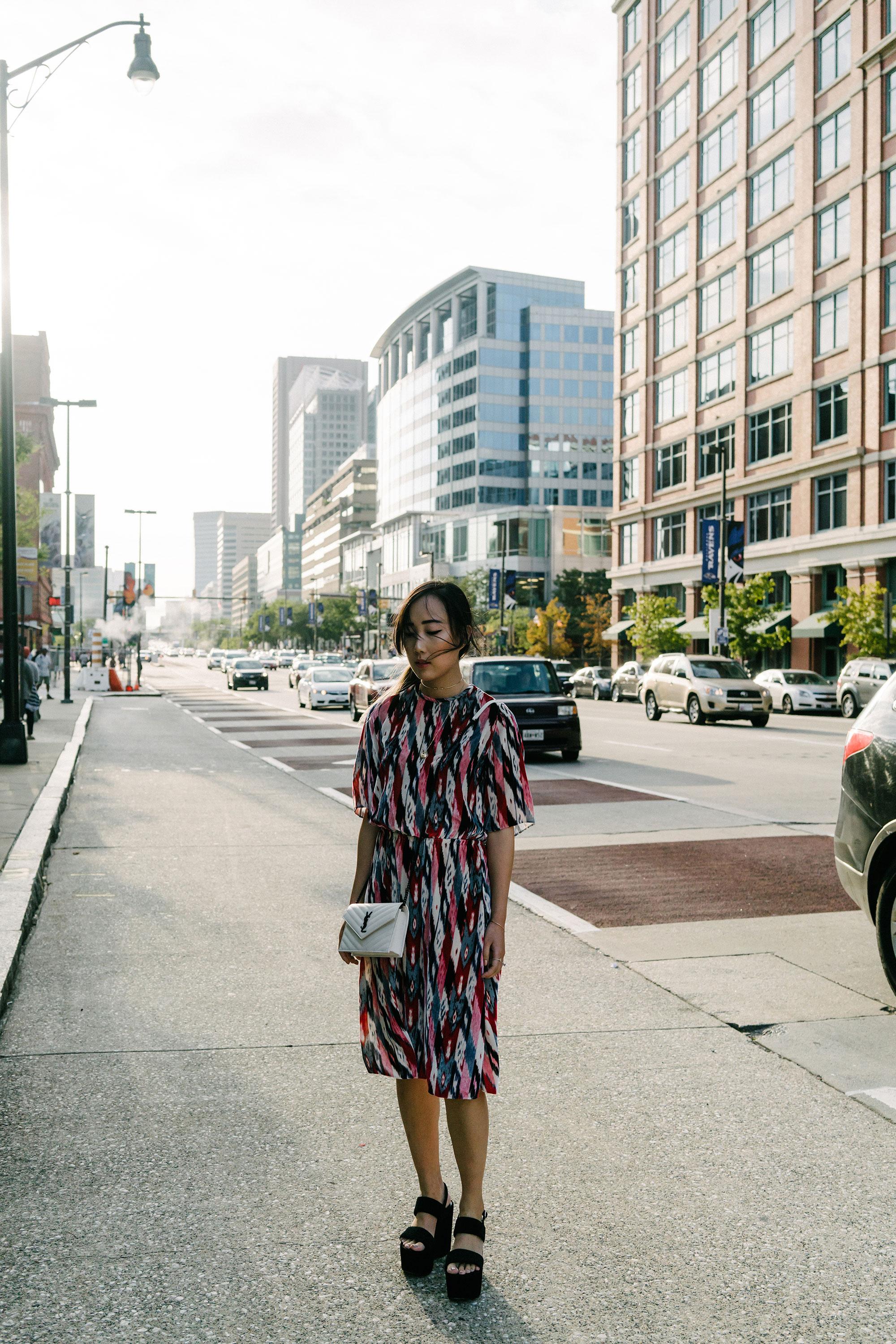 Isabel Marant Dress, Saint Laurent Shoes and Bag