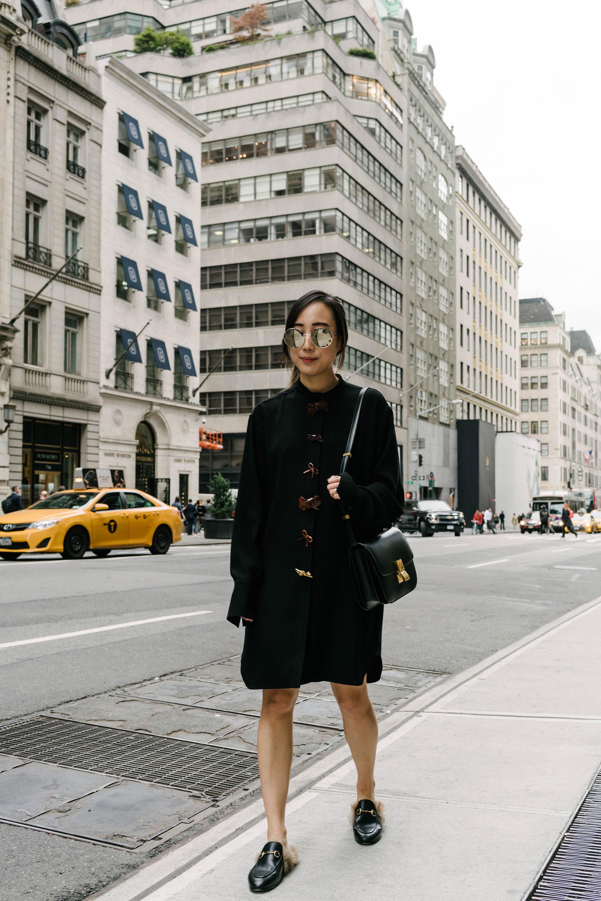 J.W.Anderson Dress , Céline Bag,  Gucci Shoes