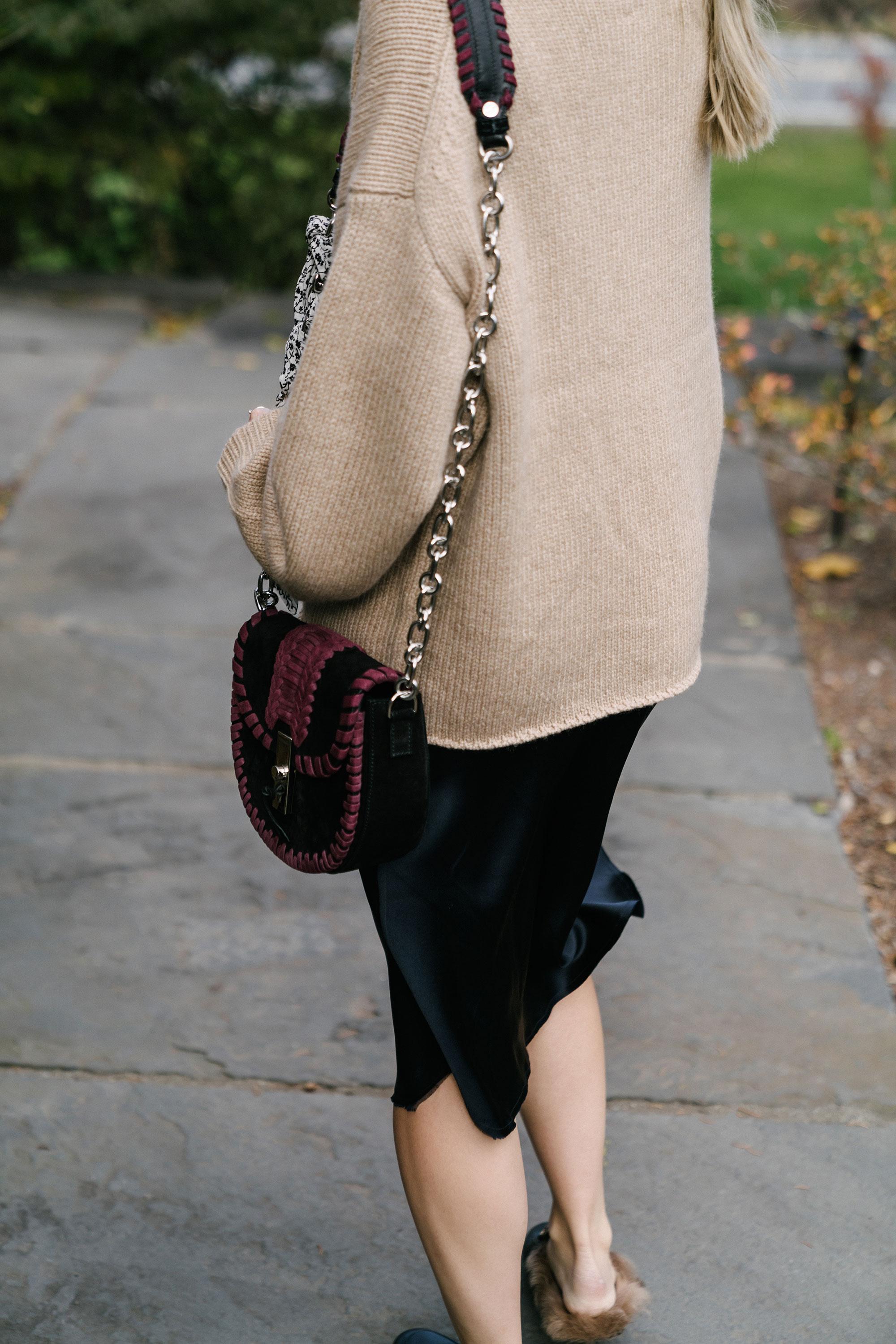 Nili Lotan Sweater  and  Dress ,  Gucci Shoes