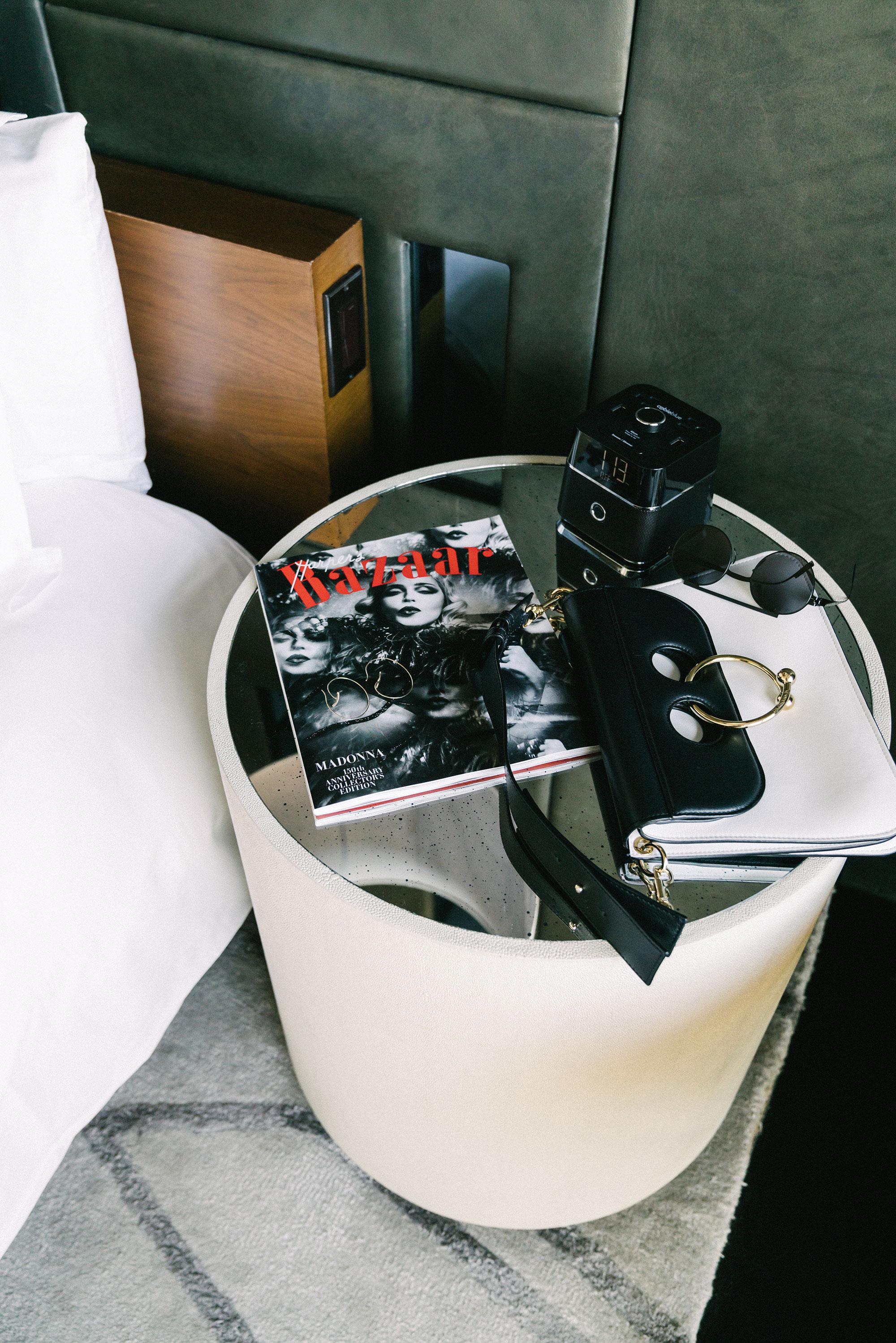 J.W. Anderson Bag ,  Ambush x Mykita Sunglasses ,  Hirotaka Earrings