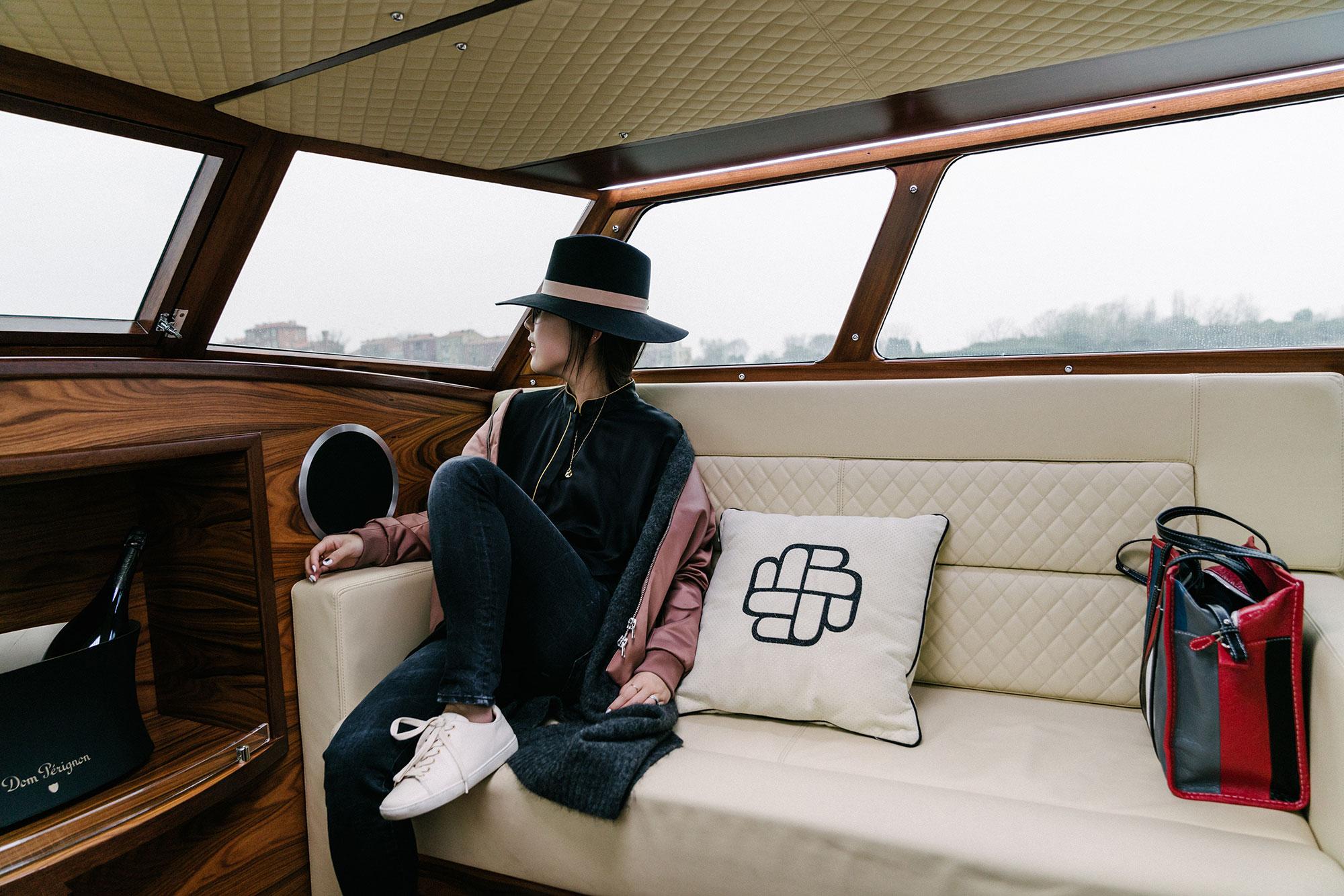 Acne Studios Jacket and Cardigan,  Homeism Top ,  R13 Denim ,  Sézane Sneakers ,  Cartier Necklace ,  Janessa Leone Hat , Balenciaga Bag