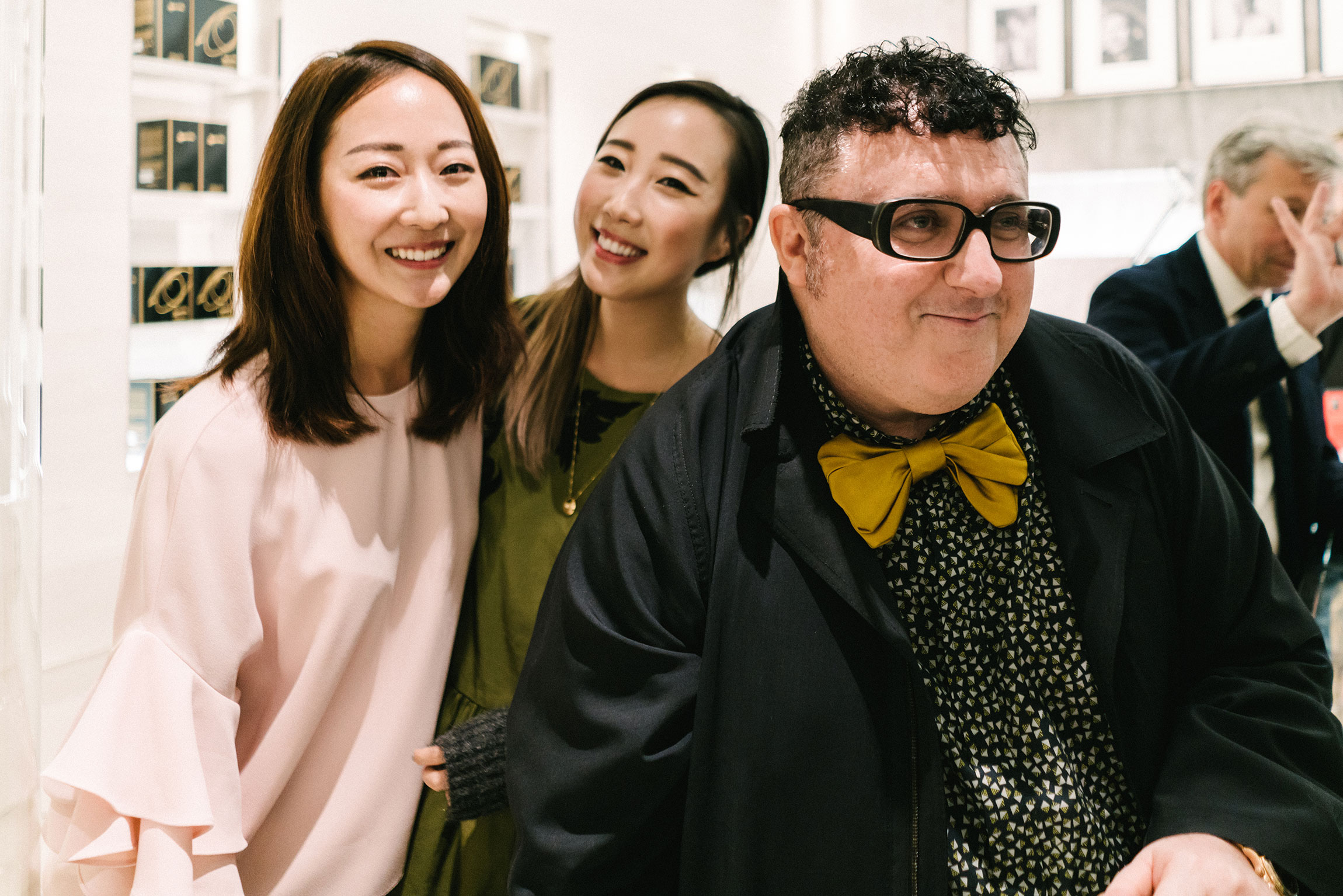 Yujin  and I with Alber Elbaz (who is 'Superstitious' and doesn't look at the camera, haha.)