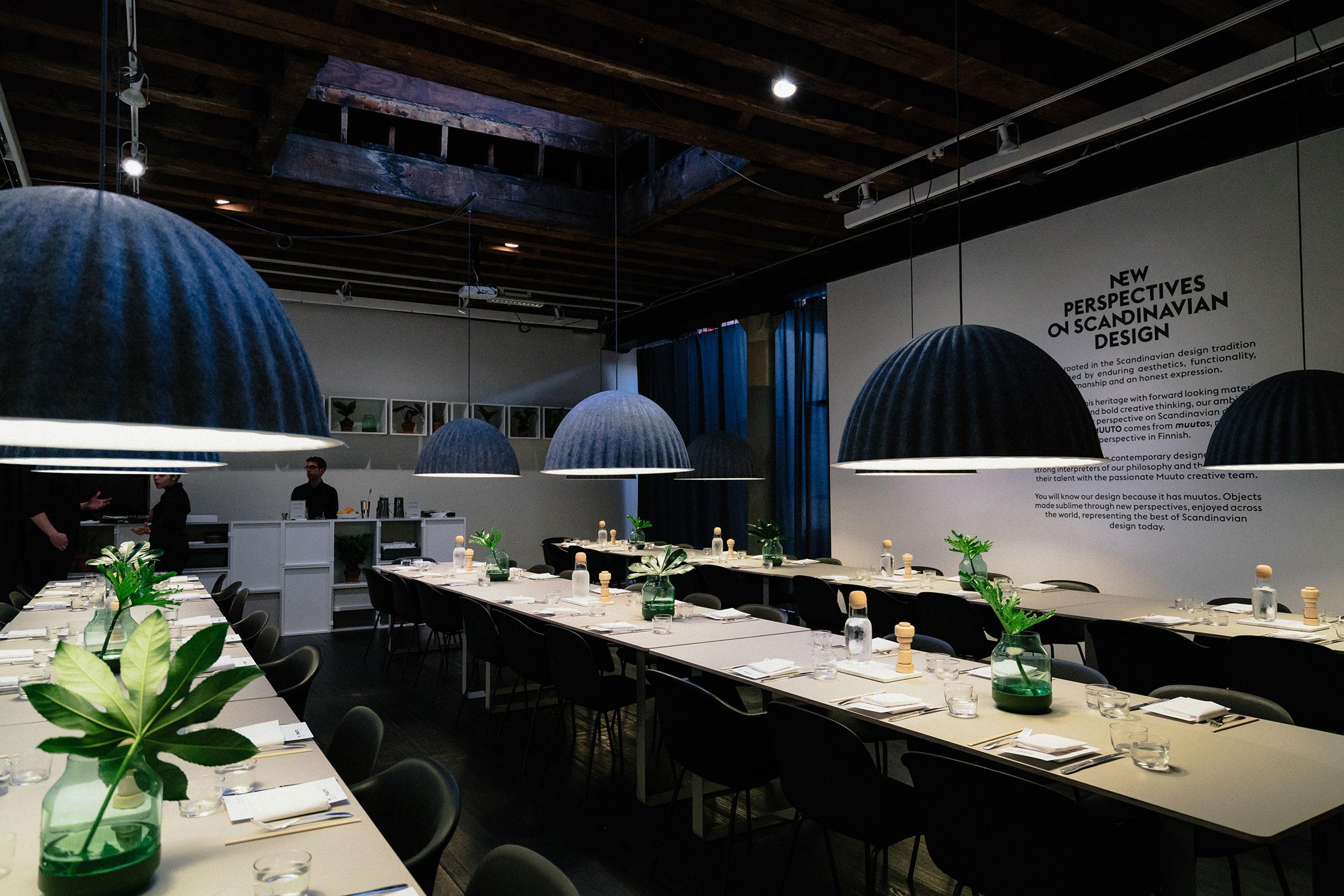 Muuto  x  Momofuku Nishi  pop-up restaurant celebrating  NYCxDesign Week 2017  and  Muuto x Maharam  collection launch