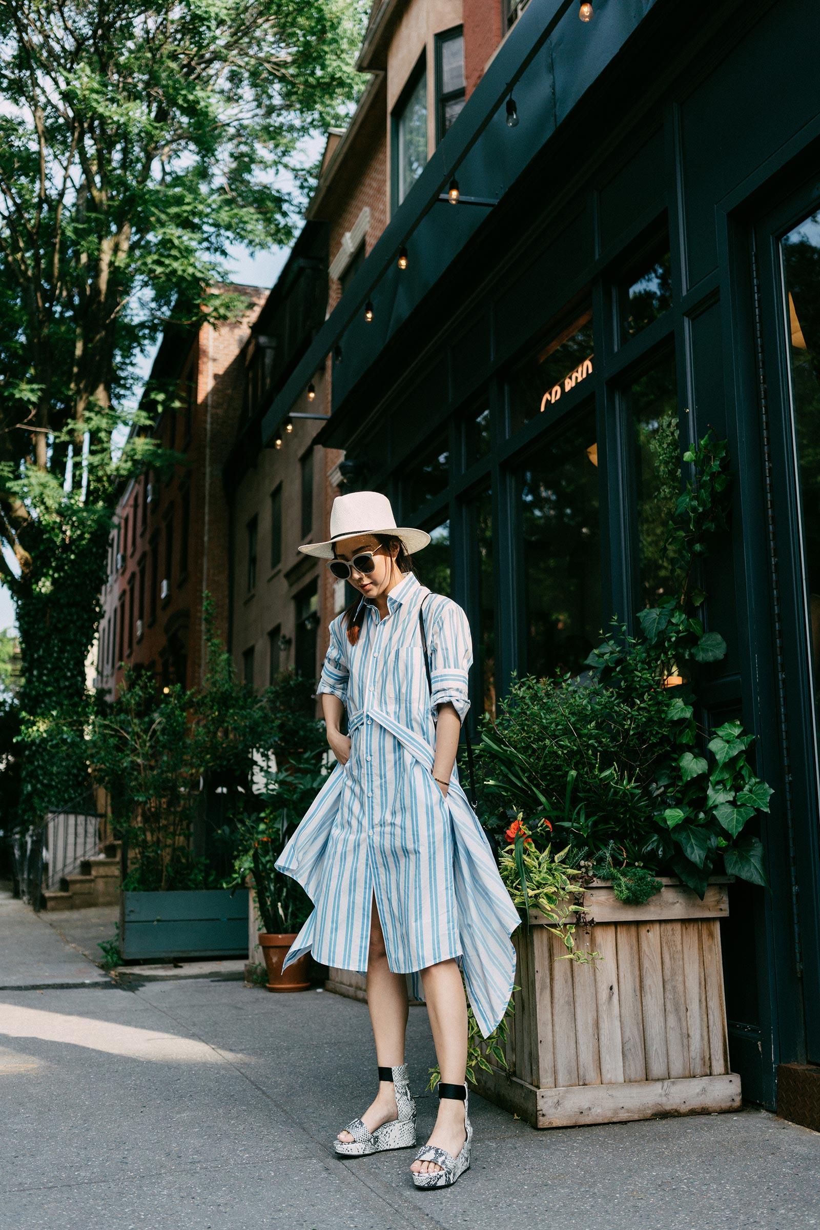 Balenciaga Dress,  Seven All Around Sandals